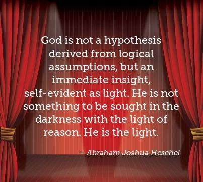 A few words from Rabbi Heschel...