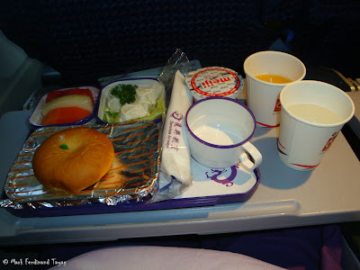 TransAsia Airways Singapore to Taipei Food 2