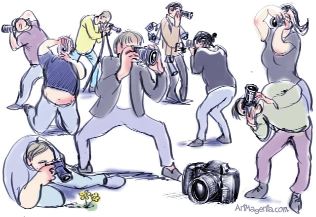Photographers in action by ArtMagenta