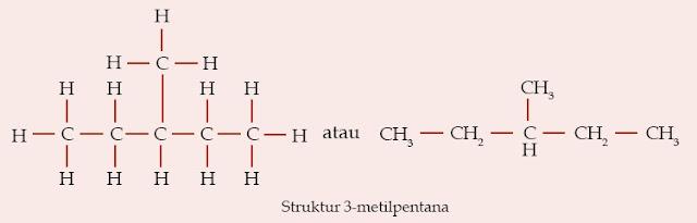 Struktur 3-metilpentana