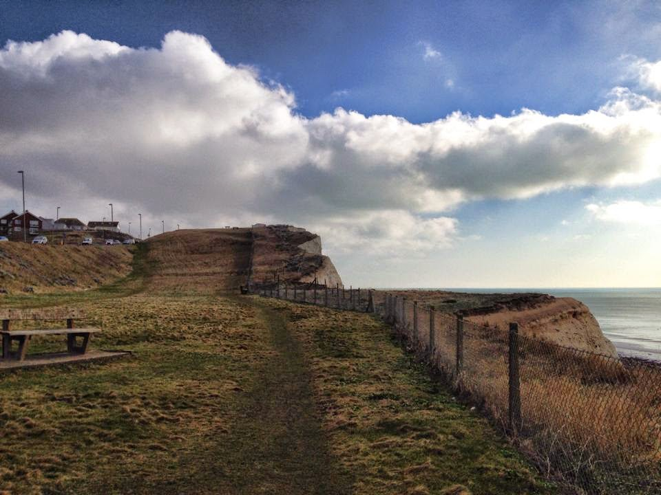 Brighton cliffs - copyright Tess Agnew