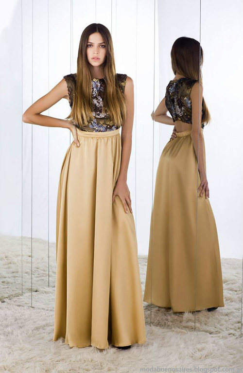Vestidos de fiesta invierno 2014 moda.