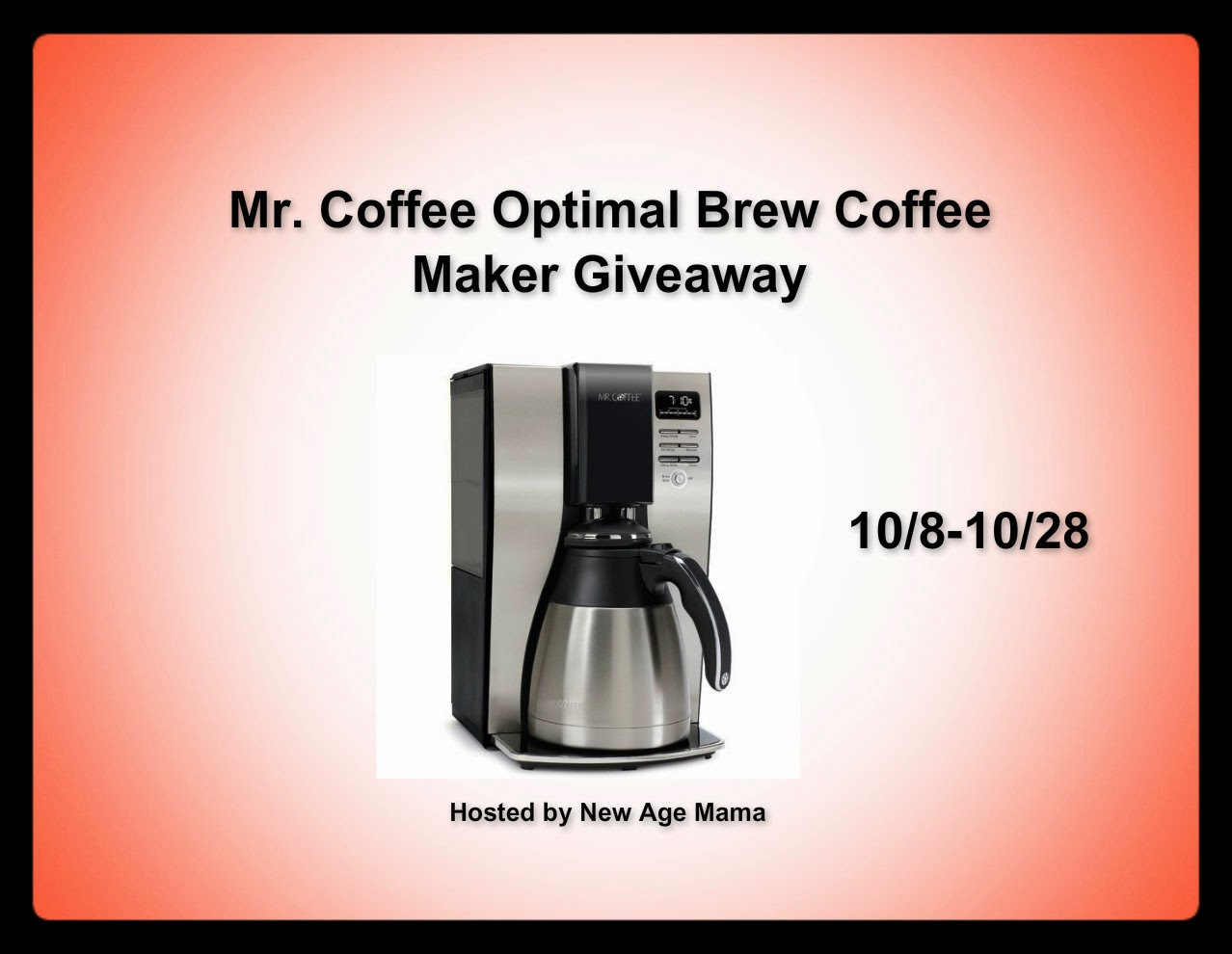 New Age Mama: Mr. Coffee Optimal Brew Coffee Maker - Review & #Giveaway
