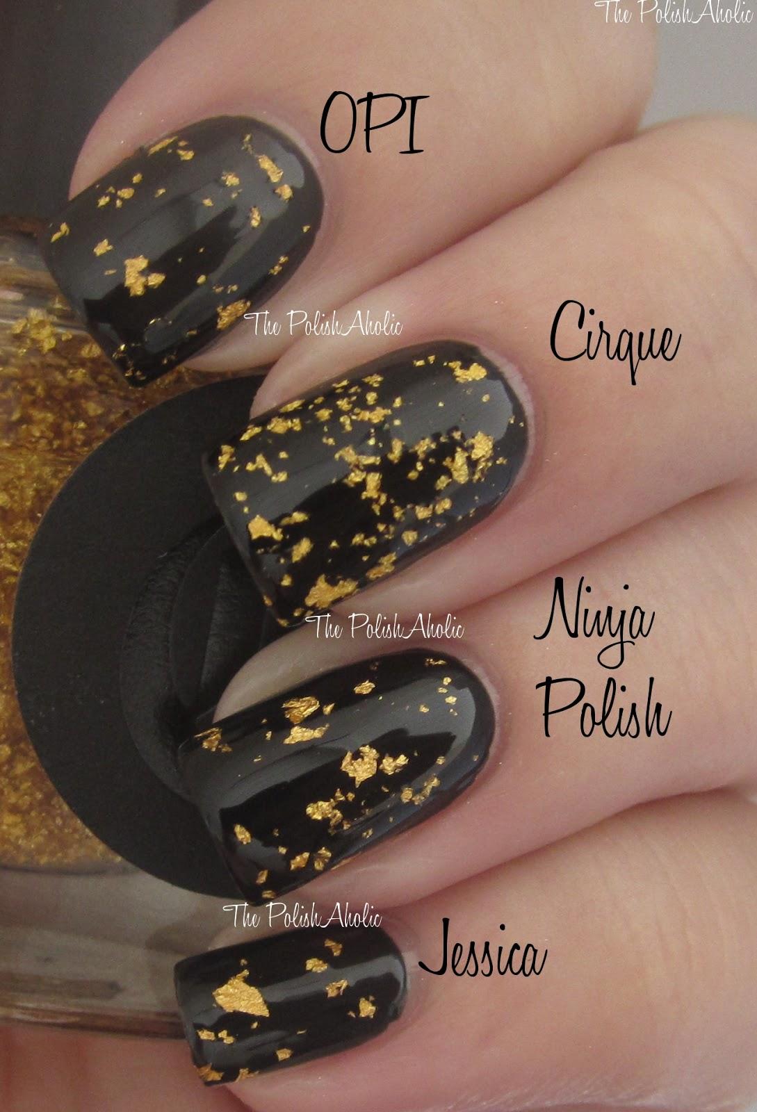 The PolishAholic: Gold Leaf Top Coat Comparison