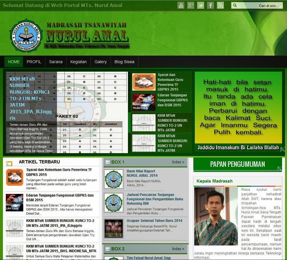 Tampilan Baru Website Nurul Amal, Nurul Amal Is The Best