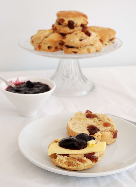 french glace cherry scones recipe