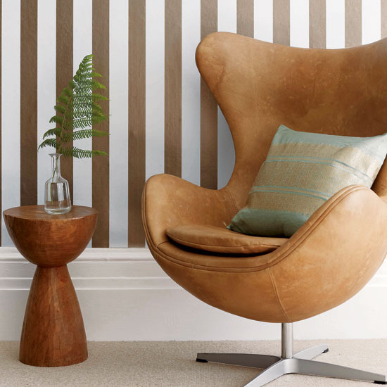 Living room armchair with stripes - Home Interior Design: May 2011