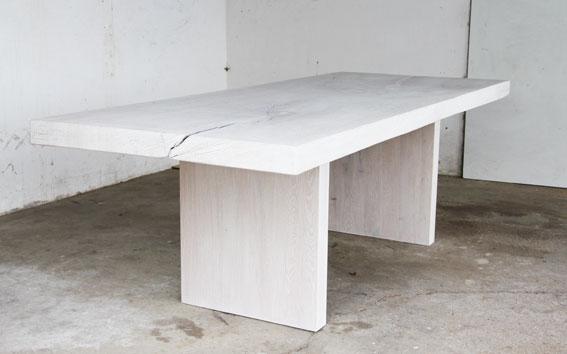 Esstisch massiv weiß gekälkt  Stefan Knopp - Tische