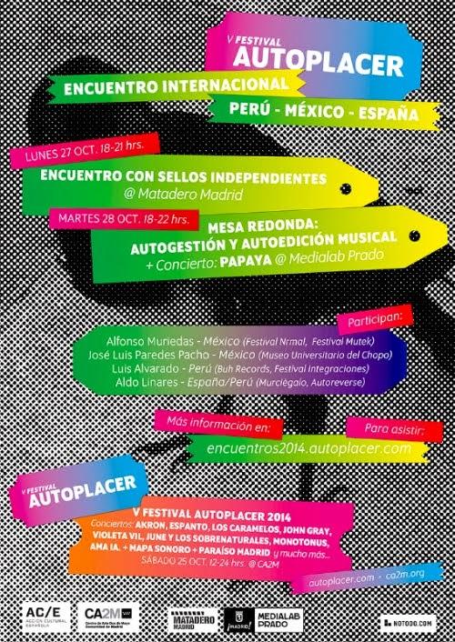 V FESTIVAL AUTOPLACER SÁBADO 25 DE OCTUBRE 12 A 24h ENTRADA GRATUITA