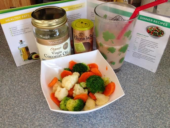 coconut steamed veggies, 3-day refresh, what a day of meals looks like on the 3 day refresh, 3 day refresh cleanse, cleansing, 3 day refresh meal plan, 3 day refresh meals, 3 day refresh review, what is the 3 day refresh