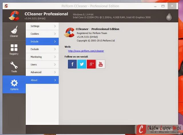 CCleaner Pro V5.04.5151 full key bản quyền