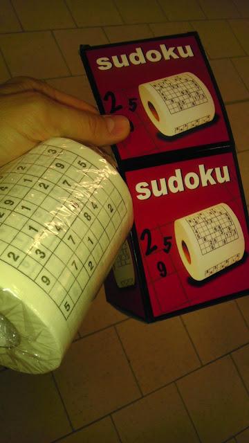 Hartie igienica cu Sudoku