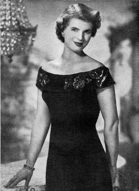 Free 1950's Knitting - Of-The-Shoulder Evening Jumper Pattern
