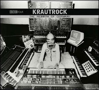 Klaus Schulze en una hipotética portada de Krautrock: The Rebirth Of Germany