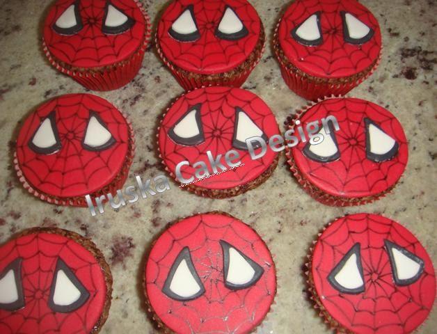 Iruska Cake Design: Homem Aranha - bolo e cupcake