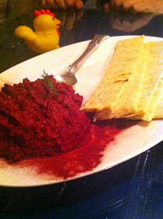 Stitch and Bear - Beetroot caviar at Skinflint