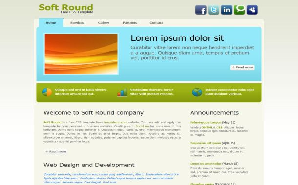 Free professional business green website template cheaphphosting Choice Image