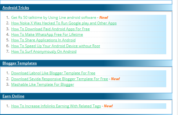 Sitemap Template | How To Create Stylish Sitemap Page In Blogger Tricks Donor