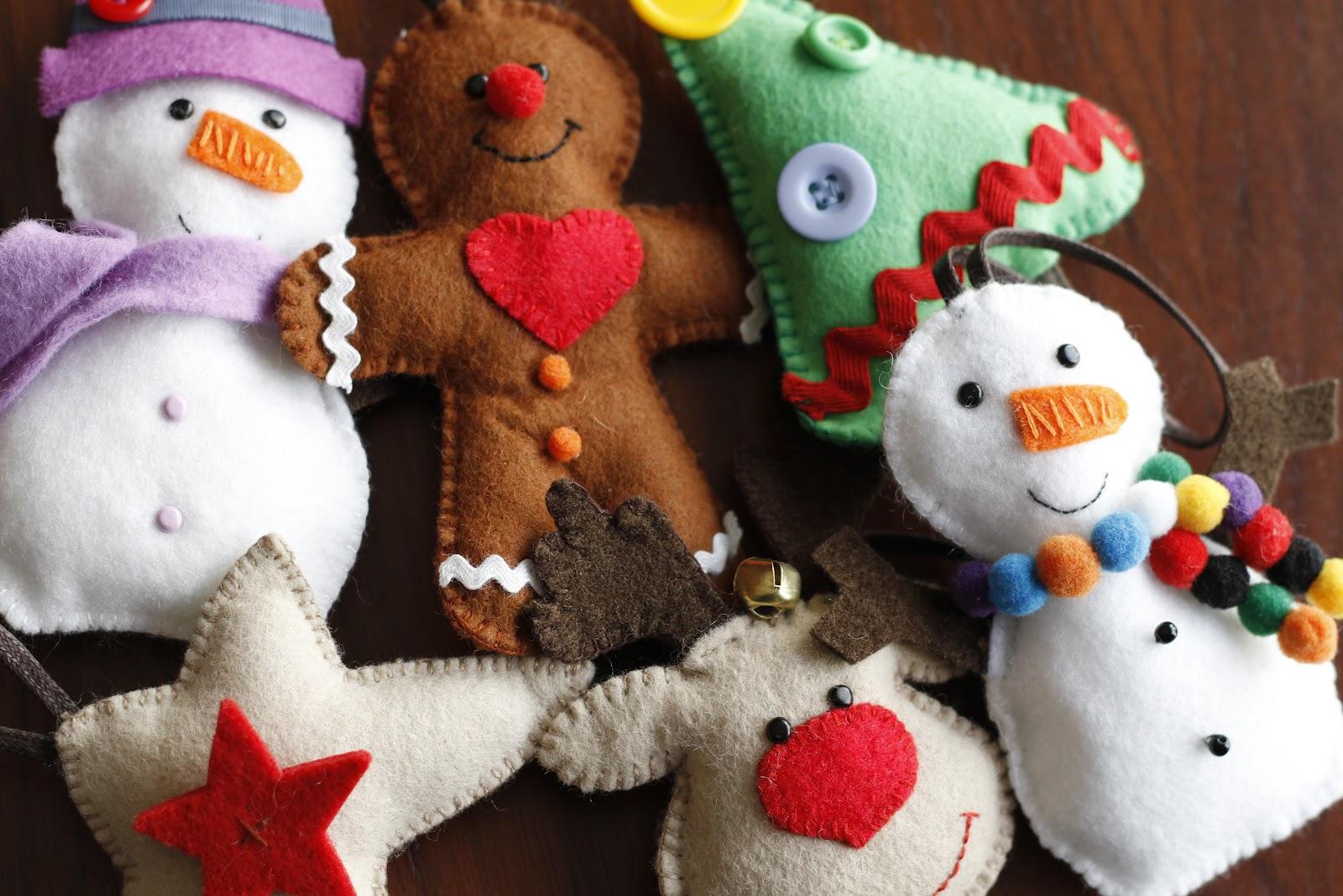 Manualidades dulces adornos de navidad fieltro - Adornos navidenos de fieltro ...