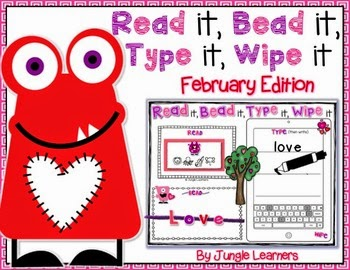 https://www.teacherspayteachers.com/Product/Read-it-Bead-it-Type-it-Wipe-it-February-Edition-1650197