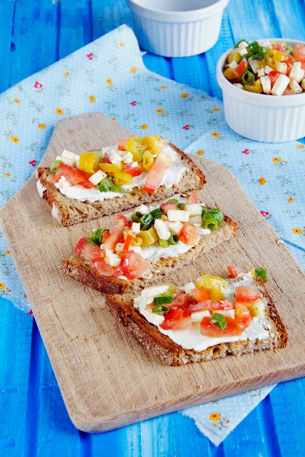 Vorspeise, Schnitten mit Salat
