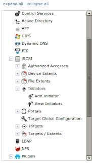 FreeNAS initiators