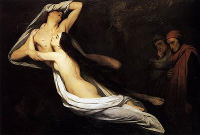 Dante and Virgil Encountering the Shades of Francesca de Rimini and Paolo