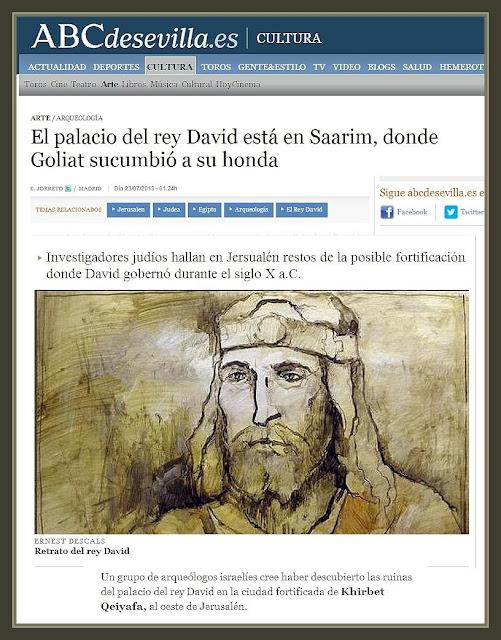 REY DAVID-ISRAEL-ARQUEOLOGIA-PINTURA-ABC-PERSONAJES-BIBLIA-PINTOR-ERNEST DESCALS