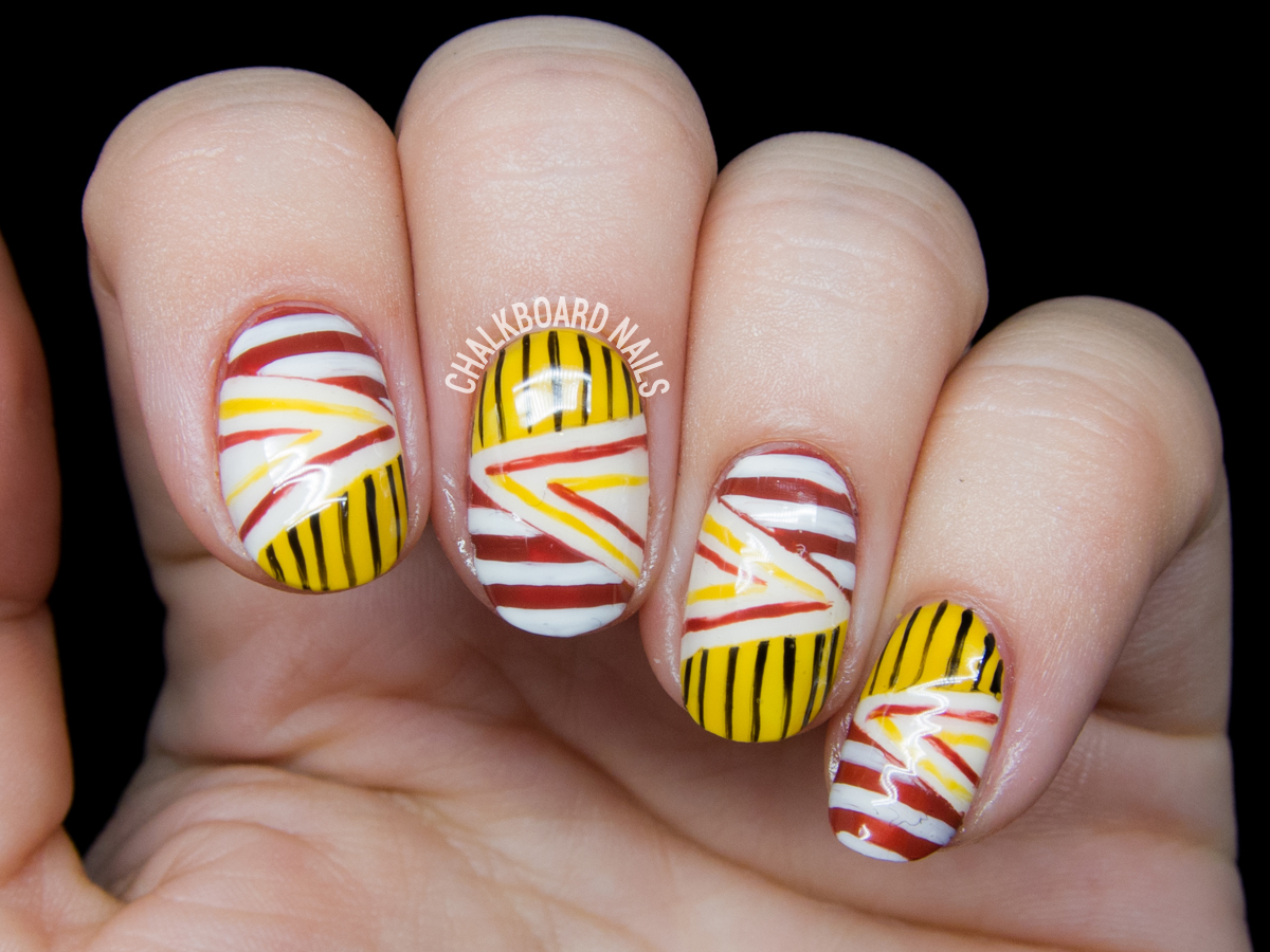 Blocked and Woven Stripes by @chalkboardnails
