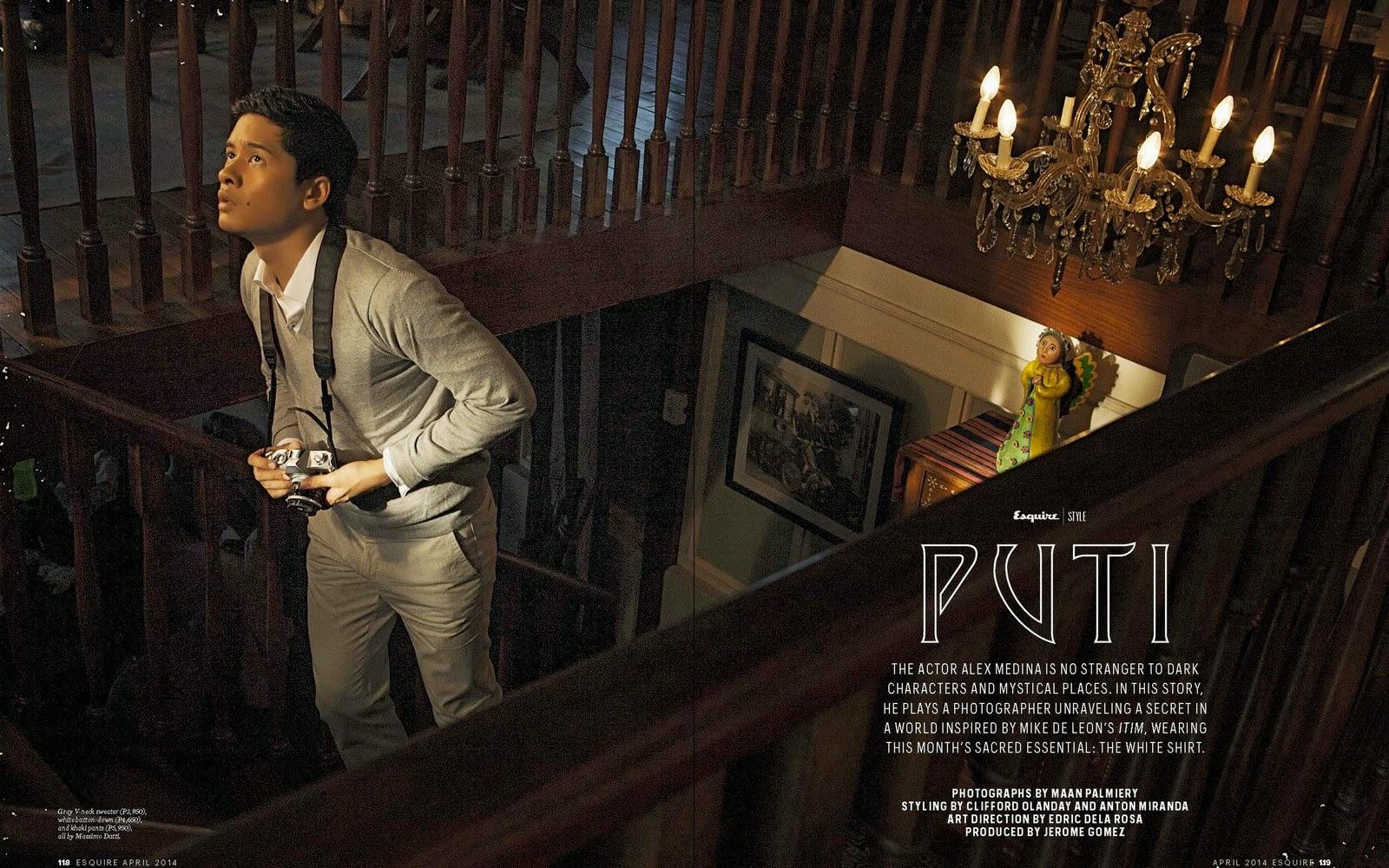 """Medina Philippines  City pictures : PUTI"""": Alex Medina para Esquire Filipinas Abril 2014"""