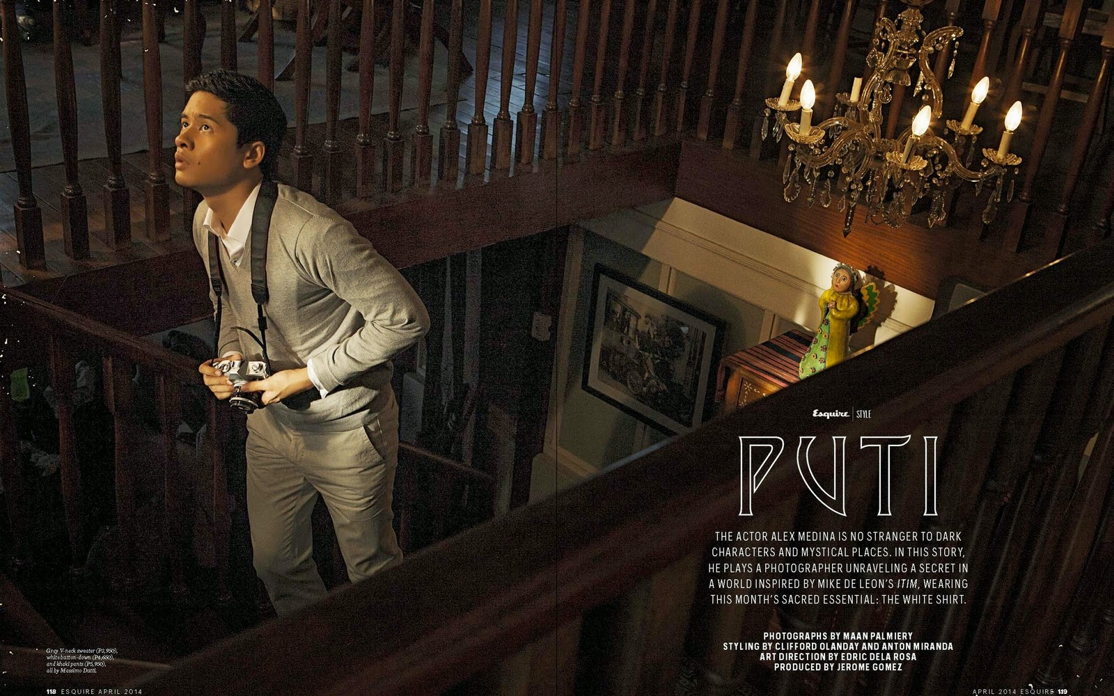 "Medina Philippines  city pictures gallery : PUTI"": Alex Medina para Esquire Filipinas Abril 2014"
