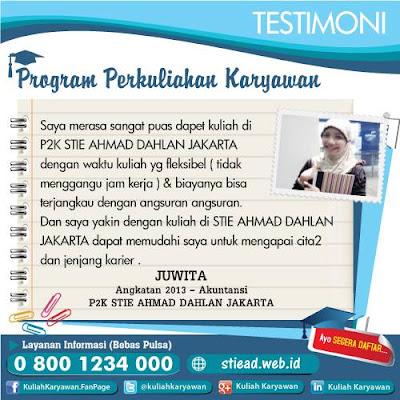 Testimoni Mahasiswa Akutansi - P2K STIE Ahmad Dahlan