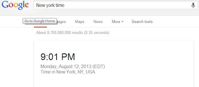 time on google