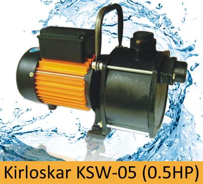 Kirloskar KSW-05 (0.5HP) Online, India - Pumpkart.com