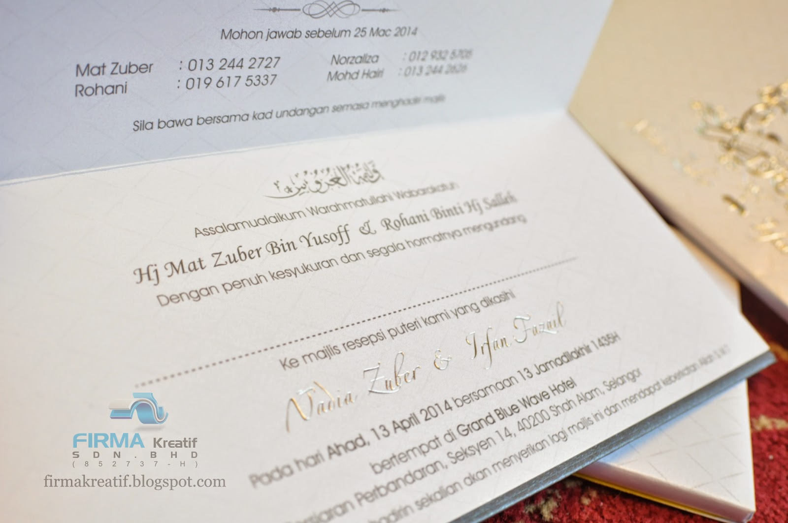 Wedding card hardcover nadia zuber irfan fazail firma wedding stopboris Gallery