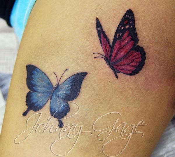 Tattoo gallery for men small butterfly tattoo for Butterfly tattoos gallery