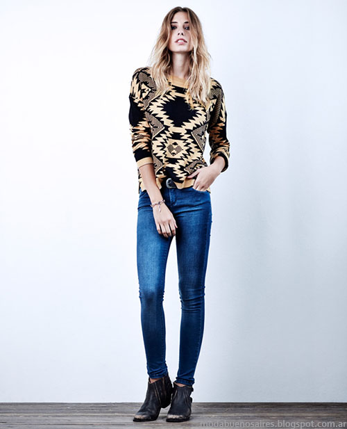 Sweaters tejidos de moda invierno 2015 Wrangler Mujer.