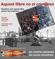 BARCELONA - 26 de mayo - 12:00 h (Plaça Sant Jaume)