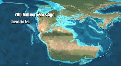 Paleo mapa del Jurásico
