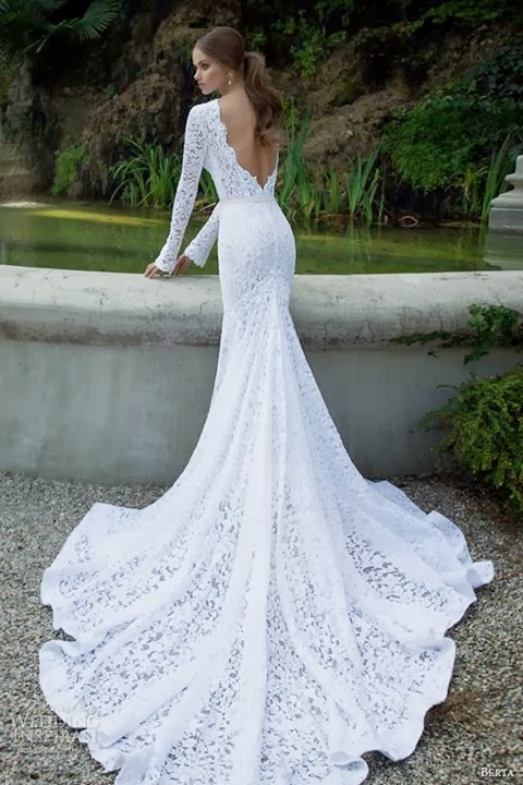 Irish crochet wedding gown