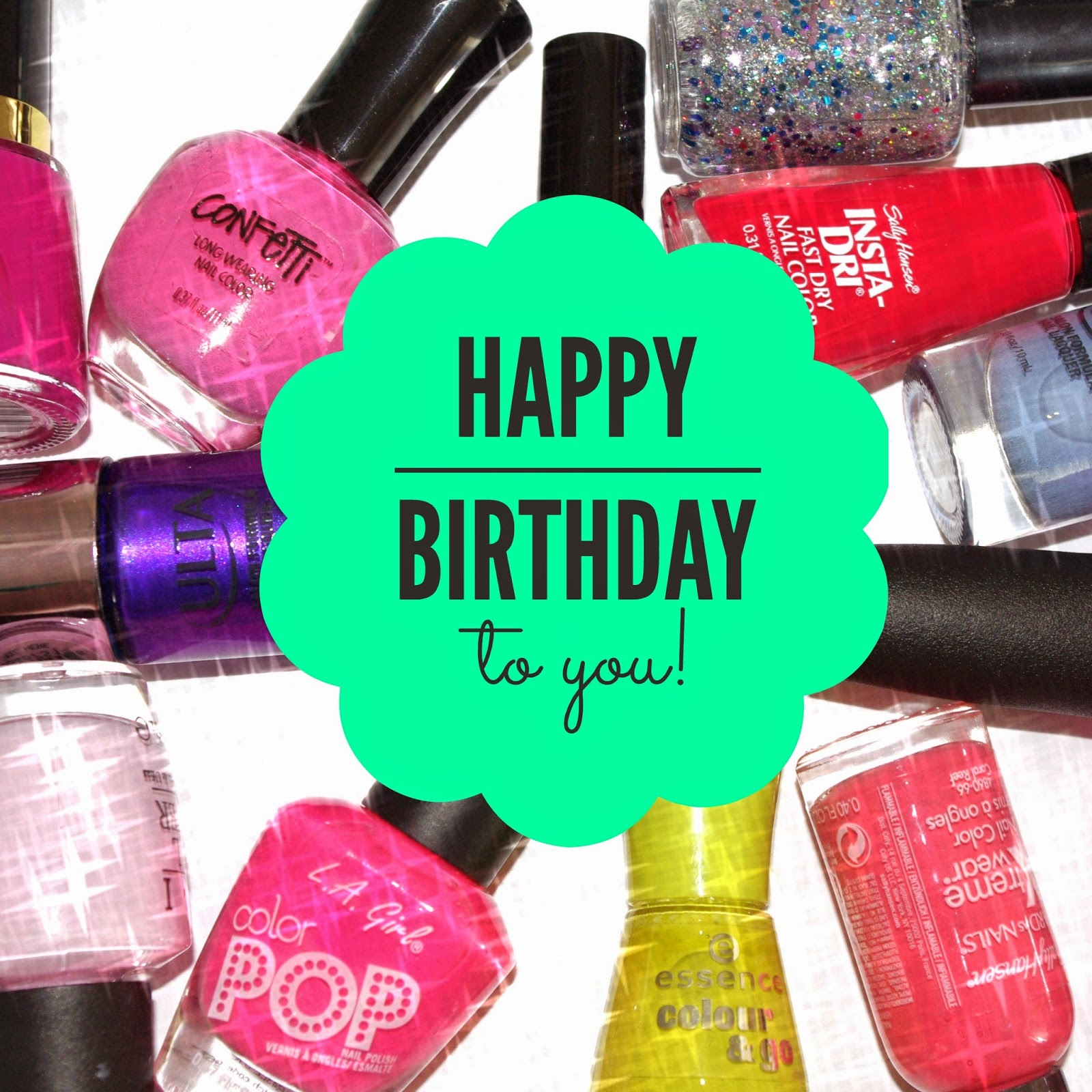 Hy Birthday Nail Polish Images