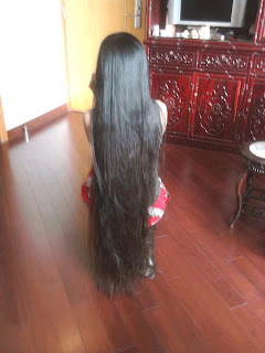 loose long hair styled girl from Asia.