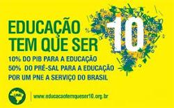 UNE/UBES/ANE-RN, EDUCAÇÃO TEM QUE SER 10!