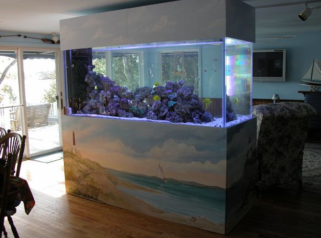 Home aquarium interior design and deco for Design aquarium