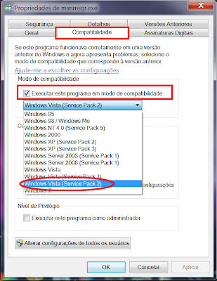 deixar msn no tray windows 8 7