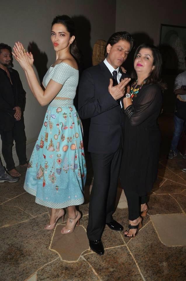 Shahrukh, Deepika & Farah at Sharabi Song Launch from HNY