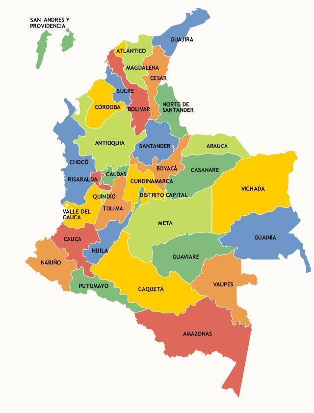 El mapa de colombia