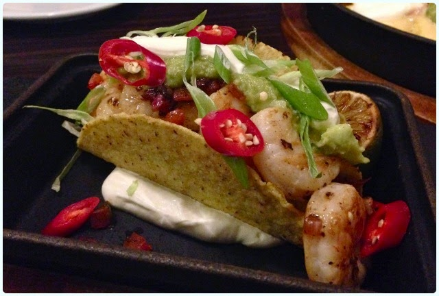 All Star Lanes, Manchester - King Prawn Taco