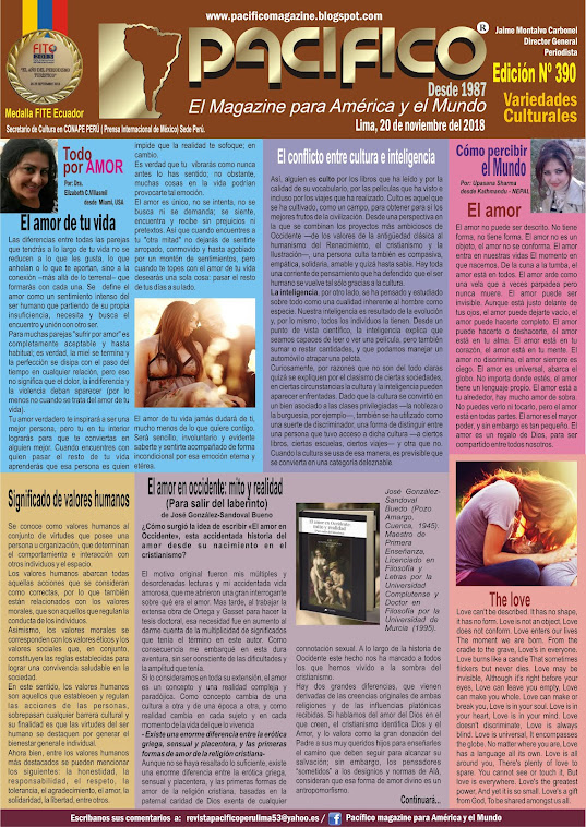 Revista Pacifico N° 390 Variedades Culturales