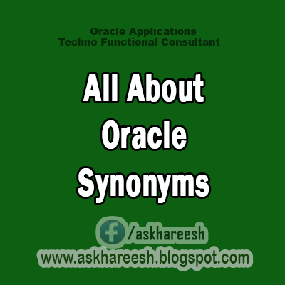 All About Oracle Synonyms, Askhareesh.blogspot.com